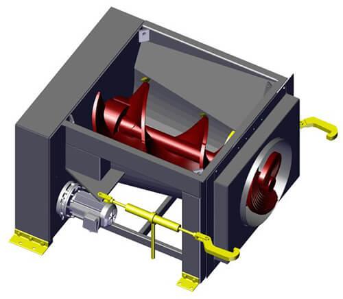 Komar EM-15W auger compactor
