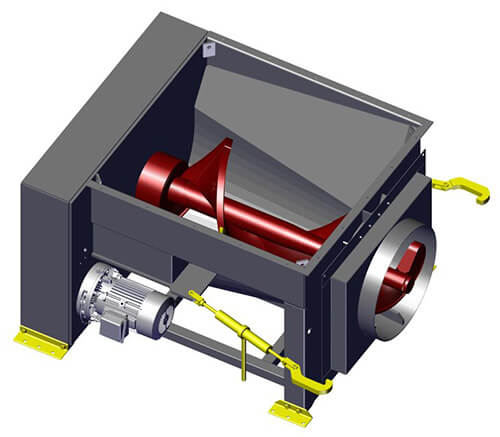 Komar EM-40W auger compactor