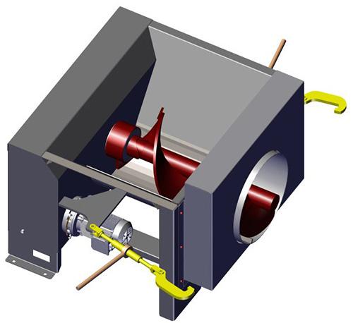 Komar CA-15 auger compactor