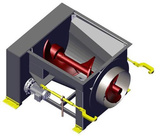 Komar EM-15G auger compactor