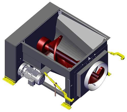 Komar EM-40G auger compactor