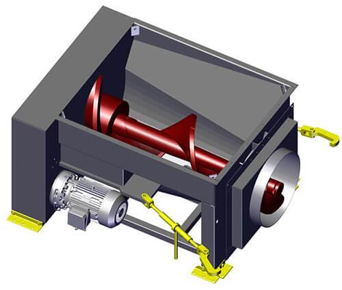 Komar EM-60G auger compactor
