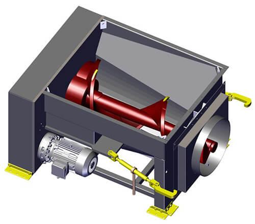 Komar EM-60W auger compactor