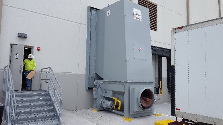Outside view of a Komar Auger-Pak™ installation
