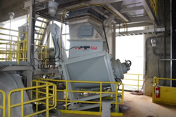 Inside view of a Komar large multi-stage hazardous waste processing system