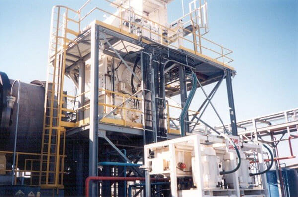 multi-stage hazardous waste processing system