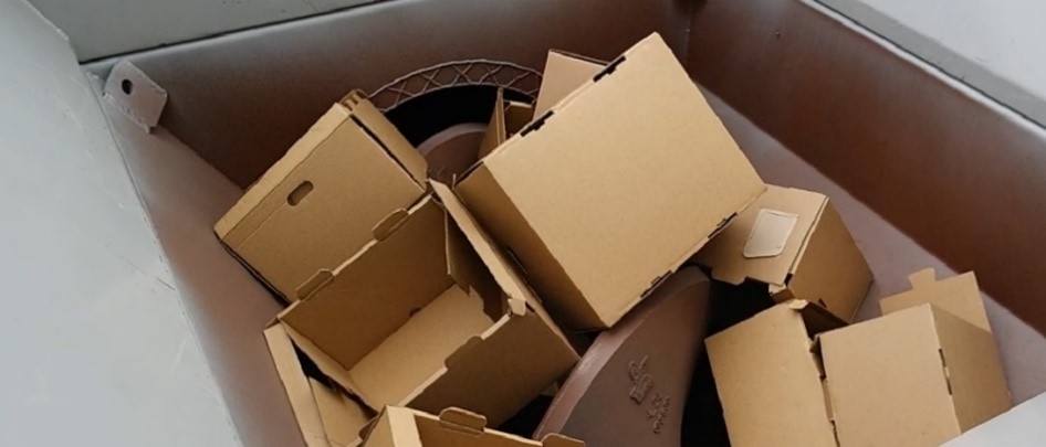 Cardboard Processing in Auger-Pak®