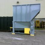 Auger-Pak™ EMD-80W, Yard Installation, Rear-Feed Flip Hopper, Forklift-Fed, Side View