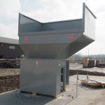 Auger-Pak™ EM-15W, Yard Installation, Rear Feed Flip Hopper, Forklift-Fed, Rear View
