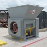 Auger-Pak™ EM-15W, Yard Installation, Three-Sided Flared Hopper (Rear, Right and Left feed), Forklift-Fed, Outside View