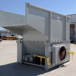 Auger-Pak™ EMD-80W, Yard Installation, Right-Feed Hopper, Forklift-Fed, Side View