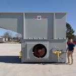 Auger-Pak™ EMD-80W, Yard Installation, Right-Feed Hopper, Forklift-Fed, Front View