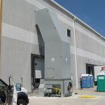Auger-Pak™ EM-40GHS, Chute-Fed Installation, Rear Feed Hopper, Conveyor-Fed, Outside View