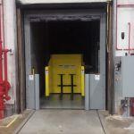 Auger-Pak™ EM-15G, Dock Plugin Installation, Rear Feed Hopper, Tipper Fed from Inside Platform, Inside View w /PLC