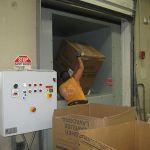 Auger-Pak™ EM-20G, Dock Plugin Installation, Rear Feed Hopper, Hand-Fed, Inside View, w/PLC