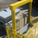 Verticle Lift Cart Tipper with Enclosure