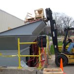 Yard Installation, Right Flared Hopper with a Flare Extension, Forklift-Fed