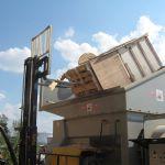 Yard Installation, Right Feed Flip Hopper, Forklift-Fed