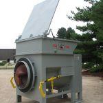 Yard Installation, Rear Flared Hopper with a Lid, Rear-Feed, Forklift-Fed