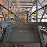 3 cu.yd., Building to Building Transfer Skip Hoist, 90ft clear span, explosion proof - in factory with panels off