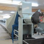 EPC 5 with Cleated Rubber Belt Conveyor, and Secondary Horizontal In-Feed Conveyor