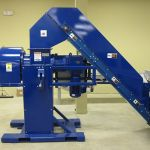 EPC 5 with Cleated Rubber Belt Conveyor, and Secondary In-Feed Conveyor