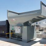 Auger-Pak™ EM-60G, Yard Installation, Side Feed Hopper, Forklift-Fed, Side View