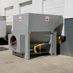 Open at the Dock Installation, Rear Feed, Forklift or Hand-Fed, Outside View