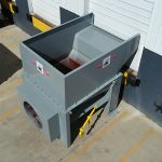 Open at the Dock Installation, Rear Feed, Forklift or Hand-Fed, Aerial Outside View