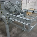 """30 series quad-shaft electromechanical shear shredder with a 1.5"""" screen and twin planetary drives."""