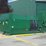 Dock Plugin Installation, Rear Feed Hopper, Processing Chamber Standard Height, Outside View